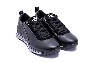Мужские кожаные кроссовки в стиле FILA Tech Flex Black черные, фото 3