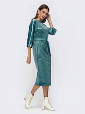 Лаконичное платье прямого кроя из мягкого бархата розмір 44 46 48, фото 3