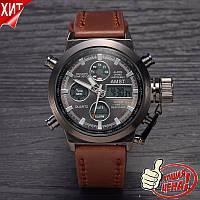 Наручний годинник AMST WATCH (коричневі), фото 1