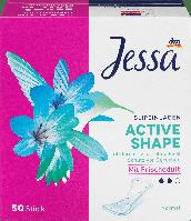 Ежедневные гигиенические прокладки Jessa Slipeinlagen Active Shape Frischeduft, 50 шт., фото 1