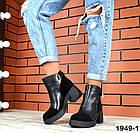 Женские ботинки в черном цвете, из натуральной кожи  39 40 ПОСЛЕДНИЕ РАЗМЕРЫ, фото 5