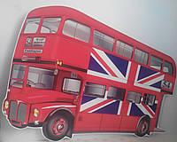 Британский автобус. Настенная декорация 70х56 см