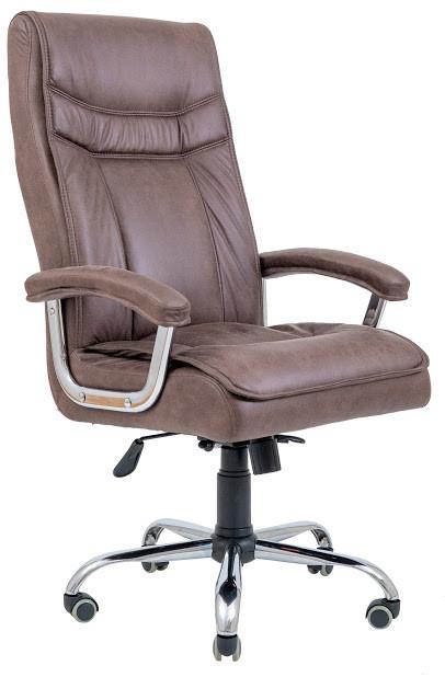 Кресло Бургас хром 1 кат коричневое