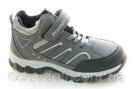 Деми ботинки promax для мальчиков  серые 31 р-р - 20.0см