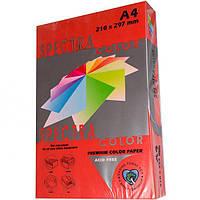Бумага цветная А4 250 листов, 160 г/м2 Spectra, красный интенсив №250