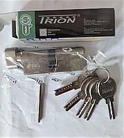 """Сердцевина дверного замка TRION латунная """"ключ-барашка (тумблер)"""" 80 мм (40*40) лазерный ключ (5 шт.)"""