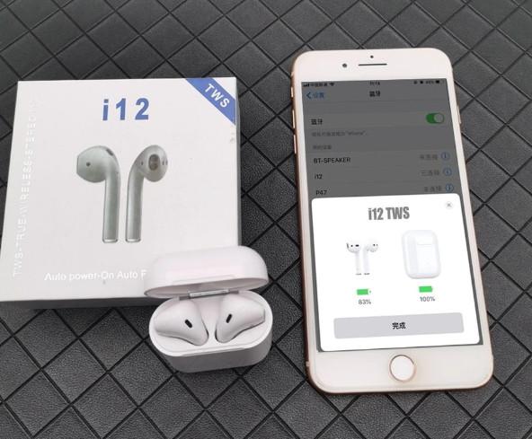 Беспроводные сенсорные Bluetooth наушники tws i12
