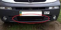 Renault Trafic 2001-2006 зимняя заглушка накладка защита на решетку радиатора Рено Трафик Renault Trafic 2001-2006 (бампер низ) глянец
