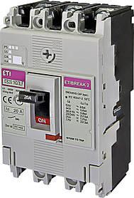 Автоматический выключатель ETIBREAK EB2S 160/3LF 20A 3P 16kA (с фикс. настройками защиты) ETI 4671802