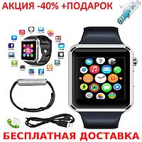 Умные часы смарт A1 Smart Watch GT08 глянец Smartwatch точная копия Apple Watch GSM Camera+Селфи палка, фото 1