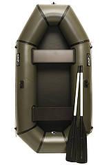 Надувная резиновая лодка Grif boat GL-240 для рыбалки и охоты на воде 220606, КОД: 110885