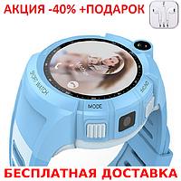 Умные смарт часы детские телефон с GPS Smart Baby Watch Q610S глянец часы телефон GPS трекер+Наушники, фото 1