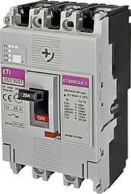Автоматический выключатель ETIBREAK EB2S 160/3LF 25A 3P 16kA (с фикс. настройками защиты) ETI 4671803