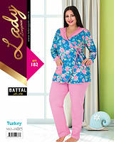 Домашний костюм (пижама) больших размеров LADY LINGERIE 182
