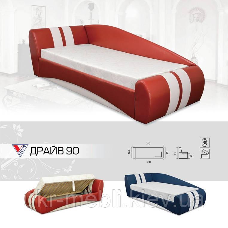 Кровать Драйв 90*200 с матрасом, Вика