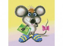 Алмазная вышивка мозаика Белоснежка Ученый мышонок 30 х 30 RN 159, КОД: 395360