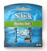 Сменные кассеты для бритья Schick Protector 3, 1 уп/4шт