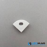 Боковая заглушка профиля для углового LED профиля 16 х 16 мм радиальная, фото 1