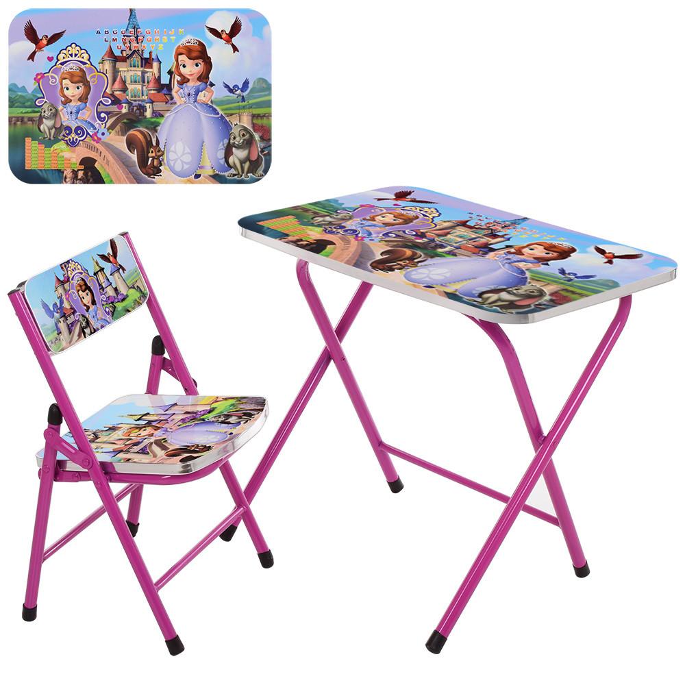 Столик детский складной со стульчиком A19-SF Гарантия качества Быстрая доставка