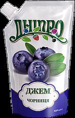 Джем Черника ТМ Дніпро, дой-пак 250 г
