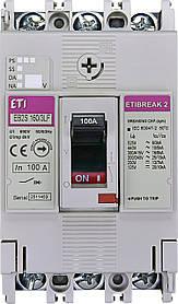 Автоматический выключатель ETIBREAK EB2S 160/3LF 100A 3P 16kA (с фикс. настройками защиты) ETI 4671809