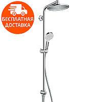 Душевой гарнитур с верхним душем Hansgrohe Crometta S 240 1jet Showerpipe Reno 27270000 хром