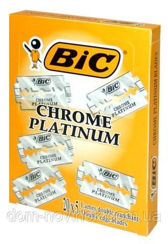 Классические лезвия BIC Chrome platinum 100шт.