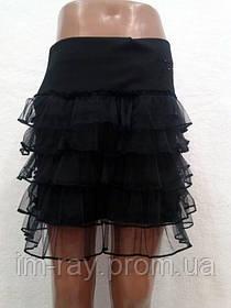 "Детская юбка ""Гипюр"" 5 рюш"