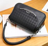 Женская сумка кросс боди с плетением Crown Черный
