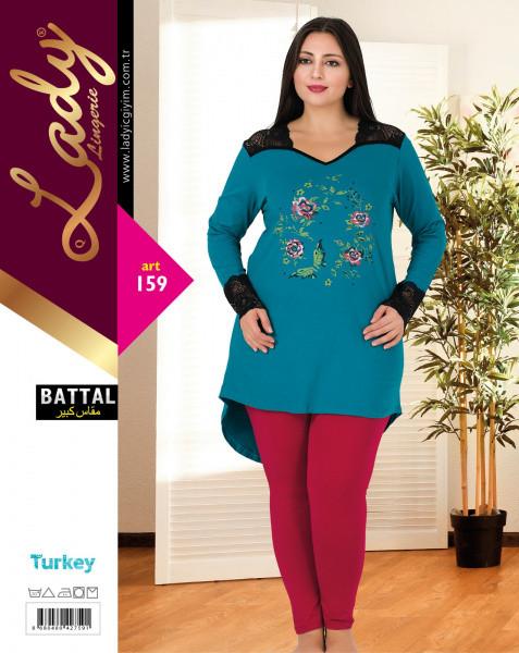 Домашний костюм (пижама) больших размеров LADY LINGERIE 159