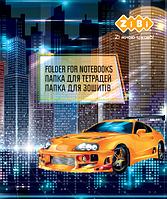 Папка для зошитів DRIVE, картонна, на гумках В5+ (175х240х25мм), KIDS Line