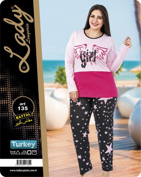 Домашний костюм (пижама) больших размеров LADY LINGERIE 135