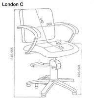 Кресло парикмахерское Comair London C, подвижная спинка, фото 3