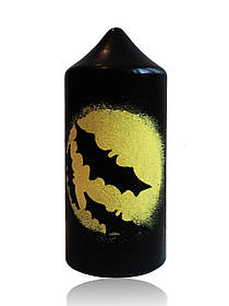 "Свічка ""Кажани"" чорна на Хелловін, Свеча столбик ""Летучая мышь"" на хеллоуин"