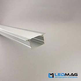 Профиль для светодиодной ленты встраиваемый 43(30)х20 мм (под две LED ленты) с рассеивателем