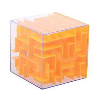 Развивающая игрушка SUNROZ Maze Money Box копилка куб-лабиринт 3D игры 2 в 1 оранжевого (SUN5677)