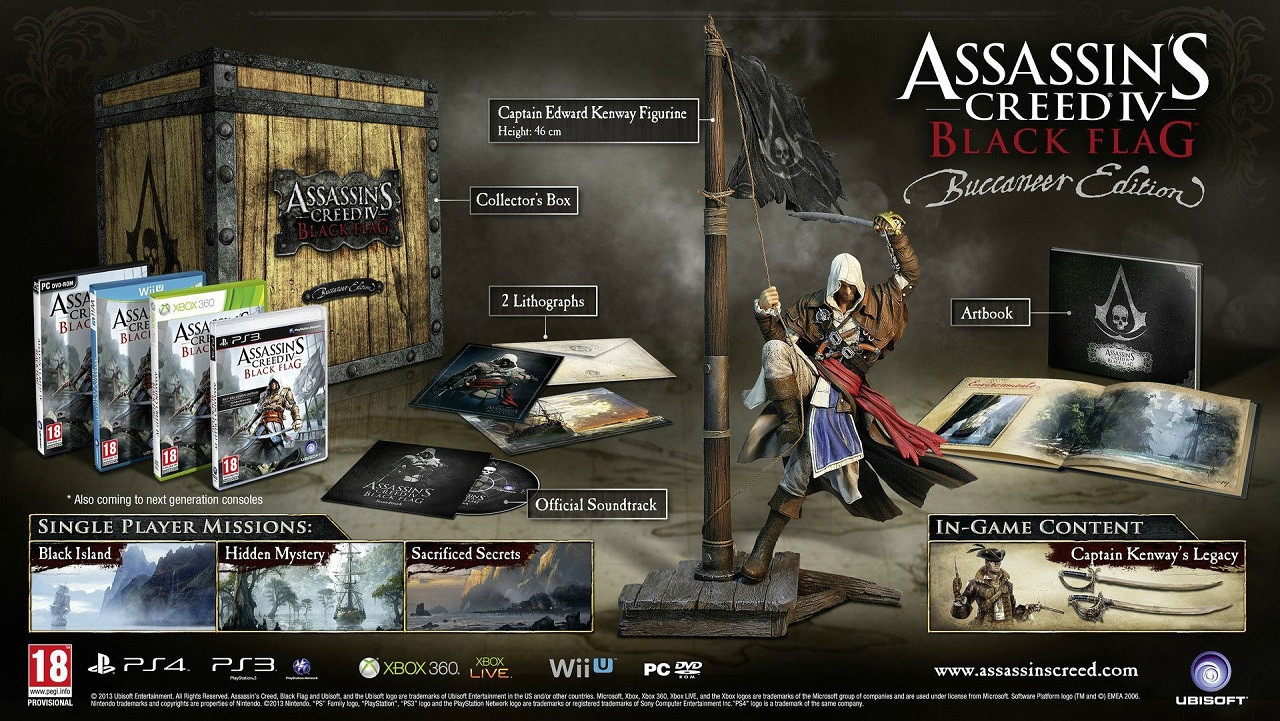 Assasins Creed Black Flag Skull Edition RUS PS4