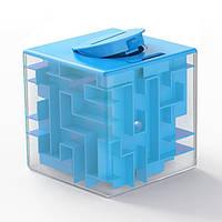 Развивающая игрушка SUNROZ Maze Money Box копилка куб-лабиринт 3D игры 2 в 1 Бакитний (SUN5679)