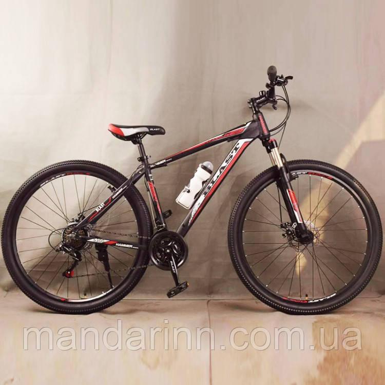 Велосипед спортивный S300 BLAST-NEW. Алюминиевый. Диаметр колёс 29'', Рама 18', Чёрно-Красный