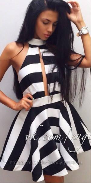 Платье в полоску 3070