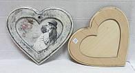 Заготовка Панно - рамка Сердце, 16х18см