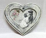 Заготовка Панно - рамка Сердце, 16х18см, фото 3