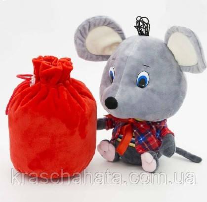 Мышонок с мешком для подарка, мягкая упаковка для конфет, 1000  грамм
