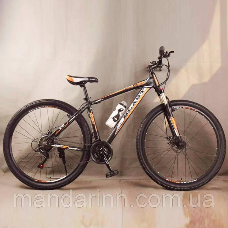 Велосипед спортивный S300 BLAST-NEW. Алюминиевый. Диаметр колёс 29'', Рама 18', Чёрно-Оранжевый