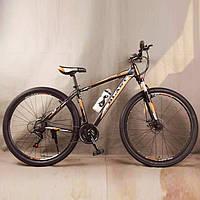 Велосипед спортивный S300 BLAST-NEW. Алюминиевый. Диаметр колёс 29'', Рама 18', Чёрно-Оранжевый, фото 1