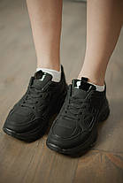 Женские кроссовки No Name Leather Black, фото 3