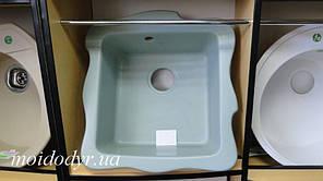 Керамічна кухонна мийка СМ (бірюзовий) 48х52