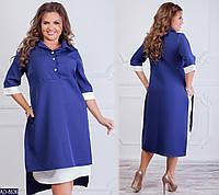 Жіноче осіннє плаття-обманка розміри 50-52 54-56 58-60 62-64 Новинка 2019 є кольори