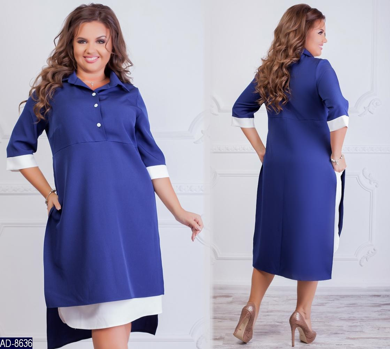Женское осеннее платье-обманка размеры 50-52 54-56 58-60 62-64 Новинка 2019  есть цвета