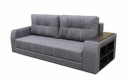 Диван Garnitur.plus Барон серый 245 см DP-131, КОД: 181463